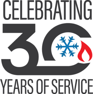 Celebrating 30 years logo.