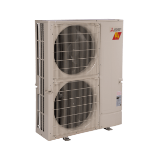 Mitsubishi multi-zone cooling and heating outdoor unit.