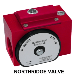 Northridge earthquake valve